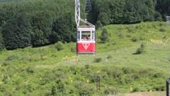 Bursa, Uludağ, Teleferik, Aerial Ropeway 4 - stock footage