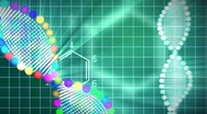 Animated background of DNA Stock Footage