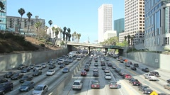 Downtown LA Traffic - stock footage