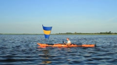 Kayak sailing Stock Footage
