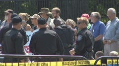 Activists arrested at Keystone XL pipeline protest Stock Footage