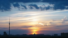Sunset in Moscow Stock Footage