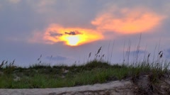 Sunset and sea oats Stock Footage