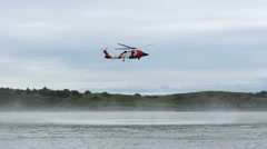 Coast Guard Helicopter Hovers  ED Stock Footage