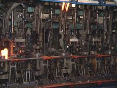 Glass recycling. Bottle manufacturing industrial factory. Stock Footage