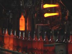 Bottle manufacturing technology in industrial factory. Stock Footage