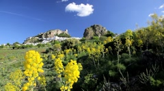 Andalucia countryside and the colours, Zahara de la Sierra, Spain, Europe Stock Footage