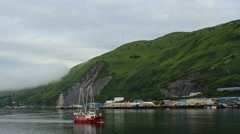 Kodiak Island Harbor ED Stock Footage