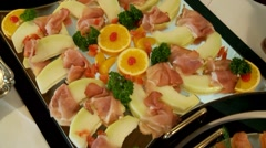 Cold Buffet - stock footage