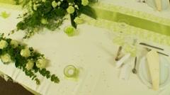 Table In Restaurant Stock Footage