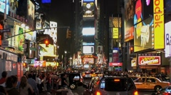 Broadway Times Square Stock Footage