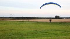 Motor paragliding - stock footage
