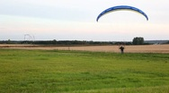 Motor paragliding Stock Footage