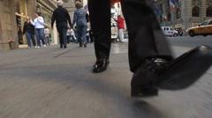 Big steps businessman front Stock Footage
