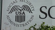 Stock Video Footage of Social Security Sign 1