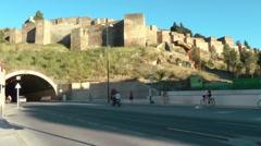 Malaga Alcazaba Stock Footage