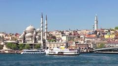 Eminonu Harbor, Istanbul, Turkey  Stock Footage