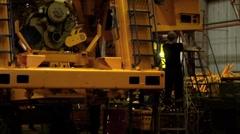 Dump truck production line 1 Stock Footage