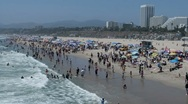 Santa Monica Beach Stock Footage