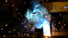 Industrial welding 5 - stock footage