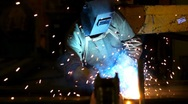 Industrial welding 5 Stock Footage