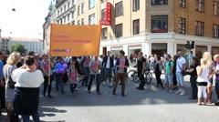 Radikale political parti at Gay parade Stock Footage