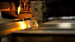 Industrial laser 009 Stock Footage