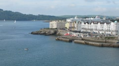 Timelapse Brittany Ferries Pont-Aven leaving Plymouth Stock Footage