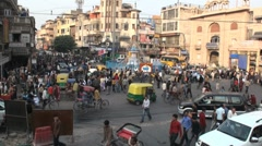 Chandni Chowk roundabout fast motion - stock footage