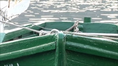 old wooden boat - stock footage