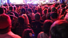 Crowd shot rock and roll concert 2 Stock Footage