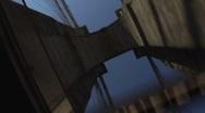 Stock Video Footage of Brooklyn Bridge POV
