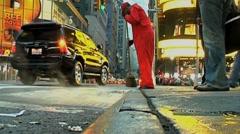 Street sweeper medium Stock Footage