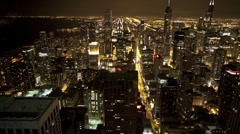 Overhead View of Chicago Stock Footage