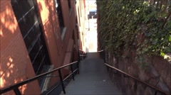 Exorcist stairs Stock Footage