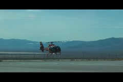 Helicopter Landing NTSC SD (Letterboxed) Stock Footage