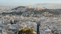 The City of Athens with the Acropolis in the distance, Athens, Greece Stock Footage