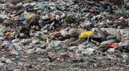 Pollution, dumping of garbage Stock Footage