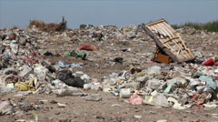 Ecological pollution, dumping of garbage Stock Footage