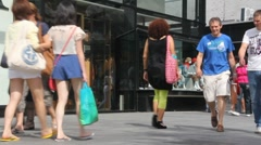 Shopping in Rotterdam Stock Footage