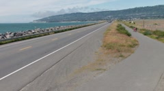 Homer Spit Road Stock Footage