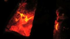 Campfire Coals Stock Footage