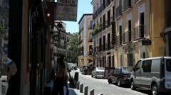Madrid Latin quarter.MOV Stock Footage