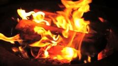 Campfire Slowburn Fire Stock Footage