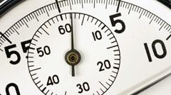 Stop watch clockface timelapse Stock Footage