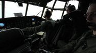Stock Video Footage of Pilots in cockpit of C-130 (HD) c