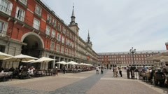 Madrid Plaza Mayor 1b.MOV Stock Footage