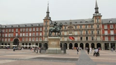 Madrid Plaza Mayor 7 Stock Footage