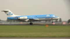 KLM cityhopper lands Stock Footage