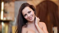 Beautiful sexy woman Stock Footage